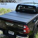 送料無料 トヨタ ハイラックス レボ GUN125 ハードトノカバー 3つ折り ブラック 荷台 ガード 保護 雨除け 専用設計 リ…