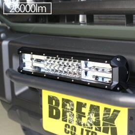LED ライトバー 38cm 216W ワークライト 26000lm 12V 24V 作業灯 ハイパーコンボ 15インチ 補助灯 オフロード 防水 汎用 フォークリフト SUV ATV バギー トラック 船舶 釣り 照明