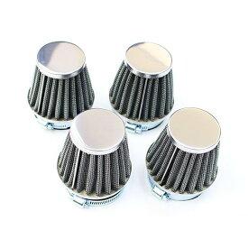 送料無料 パワーフィルター 50mm Z400GP GPZ400F ZRX400 ZXR400 4個セット