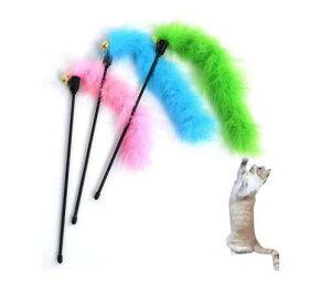 猫スティック 【ピンク】 猫用おもちゃ 猫じゃらし