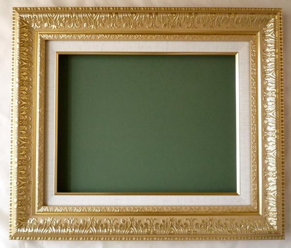 油絵 油彩額縁 (アート フレーム) MJ108 F15 ゴールド 新品-特価品