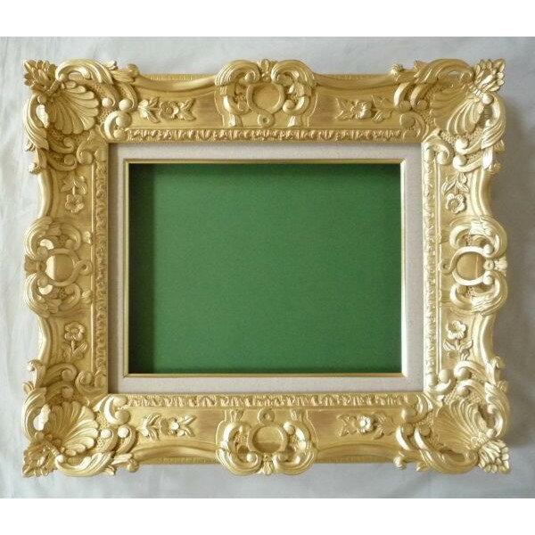 油絵 油彩額縁 7874 F12 ゴールド (アートフレーム)-新品