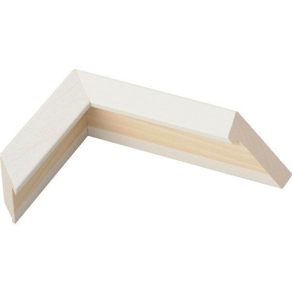 油絵用 木製額縁 仮縁 3485 F12 ホワイト 白-新品