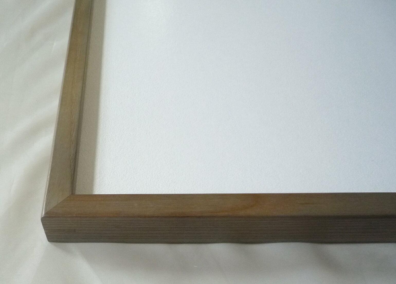 横長の額縁 D816 400×200mm 木製フレーム グリーン -新品