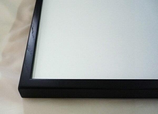 横長の額縁 D816 400×200mm 木製フレーム ブラック 黒 -新品