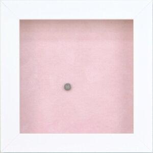 額縁 ピン缶バッジフレーム 8231 130角 ホワイト/ピンク -新品