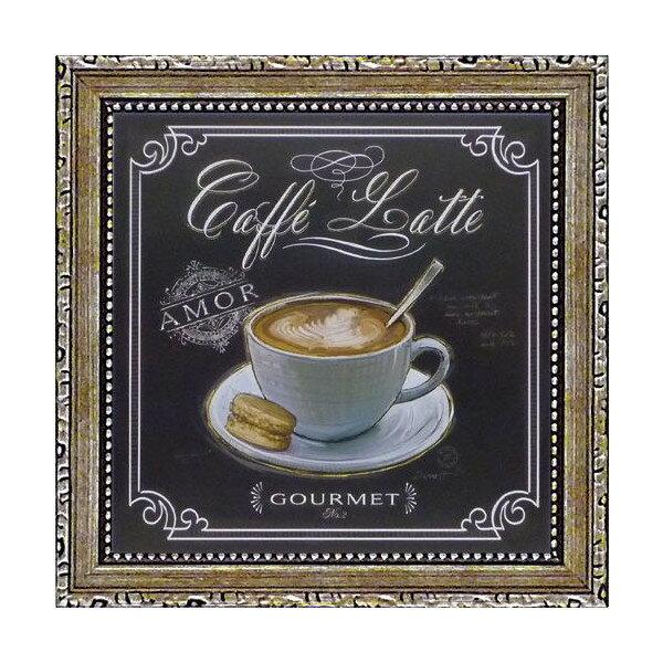 ミニゲル アートフレーム チャド バレット「コーヒー ハウス カフェラテ」 CB-02012-新品