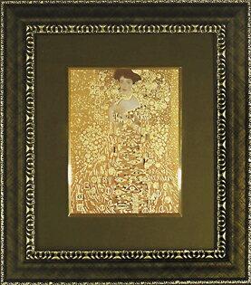 額縁付き 絵画 クリムト 「アデーレの肖像」 GK-08512-新品