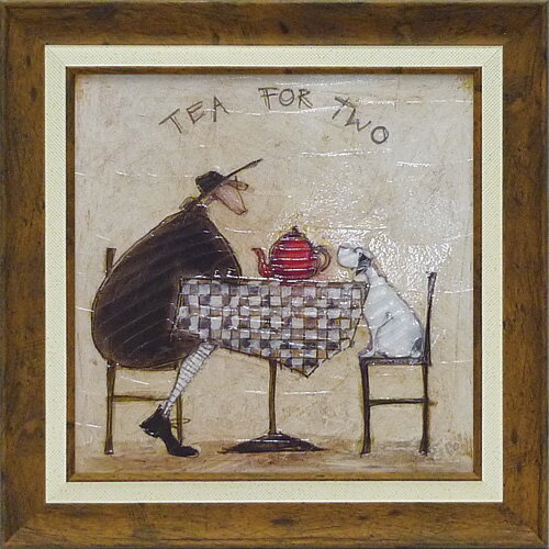 額縁付き 絵画 アートフレーム サム トフト「2人でお茶」 ST-06505-新品