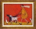 額縁付き 絵画 アートフレーム サム トフト「ウォーキーズ」 ST-08005-新品
