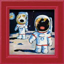 リサとガスパール ミニアートフレーム 「月面歩行」 GL-00666-新品