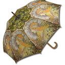 名画 木製ジャンプ傘 ミュシャ「ゾディアック」 AU-02204 雨傘 名画コレクション-新品