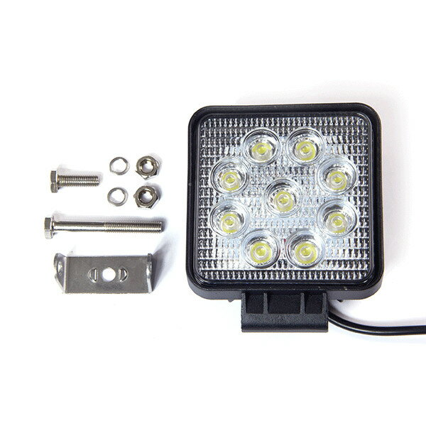 バック ランプ デッキライト フィッシング 1年の安心保証 汎用LED作業灯 27W 9発12v/24v 船舶/トラック/各種作業車対応 防水省エネ 広角60度