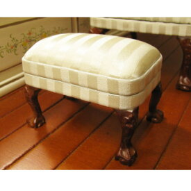 【レディアンのお気に入り】ミニチュア家具 シルクストライプのオットマン [LA041][m-s]【 ネコポス不可 】