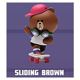 POPMART LINE FRIENDS ストリートシリーズ [11.SLIDING BROWN]【 ネコポス不可 】
