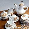ミニチュア陶器セレブ名牌シリーズRCアンティックローズコーヒーセット[AD061][m-s]【SD】【ネコポス不可】