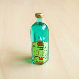 ミニチュア雑貨 緑のウイスキーボトル 6角 [ID51012][m-s]【ネコポス配送対応】【C】