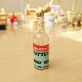 ミニチュア雑貨 白のウイスキーボトル[ID51011][m-s]【ネコポス配送対応】【C】