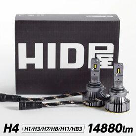 LEDヘッドライト GシリーズH1 H3 H3C H4 Hi/Lo H7 H8 H9 H11 H16 H10 HB3 HB4 HIR2 爆光 省エネ 14880lm 6500k 車検対応 ホワイト フォグランプ使用可能 日本製LEDチップ搭載 HID屋
