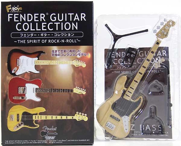 【3C】 エフトイズ 1/8 フェンダーギターコレクション THE SPIRIT OF ROCK-N-ROLL 75 ジャズベース(ナチュラル) ミニチュア 楽器 ギター ジャズ 半完成品 単品