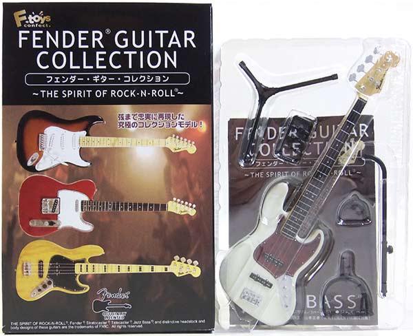 【3B】 エフトイズ 1/8 フェンダーギターコレクション THE SPIRIT OF ROCK-N-ROLL 62 ジャズベース (オリンピックホワイト) ミニチュア 楽器 ギター ジャズ 半完成品 単品