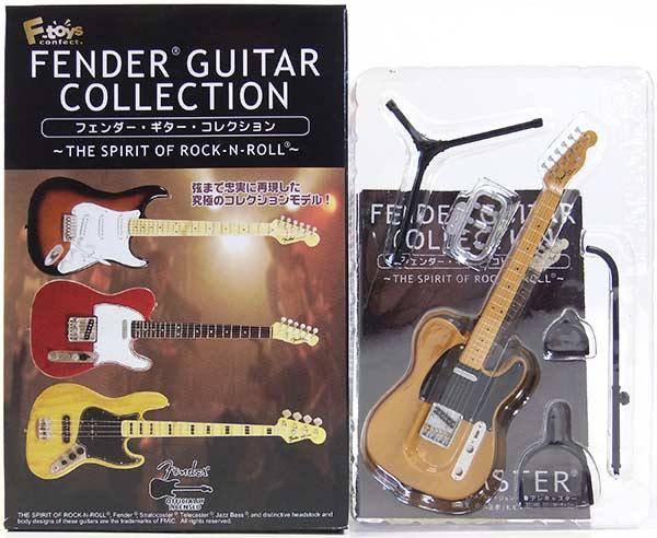 【2A】 エフトイズ 1/8 フェンダーギターコレクション THE SPIRIT OF ROCK-N-ROLL 52 テレキャスター (バタースコッチブロンド) ミニチュア 楽器 ギター ジャズ 半完成品 単品