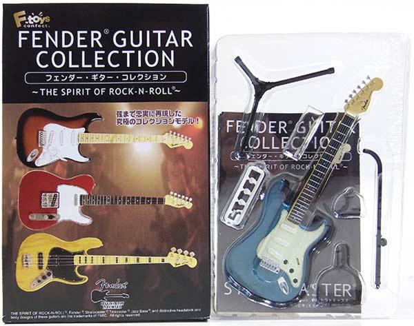 【1D】 エフトイズ 1/8 フェンダーギターコレクション THE SPIRIT OF ROCK-N-ROLL 62 ストラトキャスター (レイクプラシッドブルー) ミニチュア 楽器 ギター ジャズ 半完成品 単品