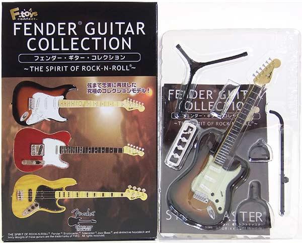【1C】 エフトイズ 1/8 フェンダーギターコレクション THE SPIRIT OF ROCK-N-ROLL 62 ストラトキャスター (3カラーサンバースト) ミニチュア 楽器 ギター ジャズ 半完成品 単品