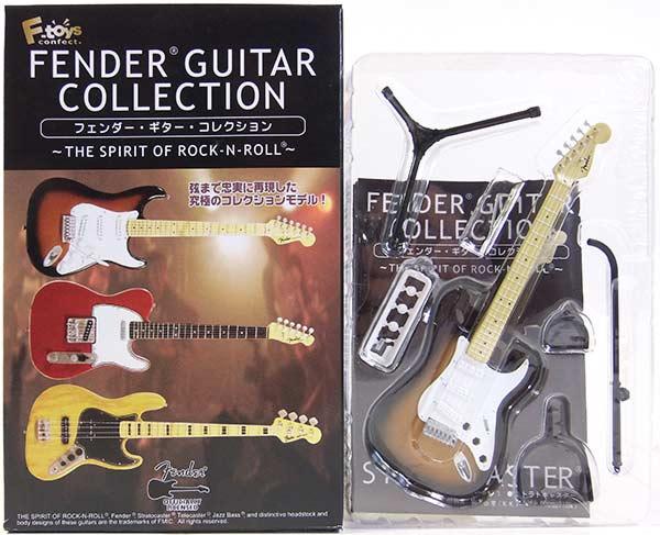 【1A】 エフトイズ 1/8 フェンダーギターコレクション THE SPIRIT OF ROCK-N-ROLL 57 ストラトキャスター (2カラーサンバース) ミニチュア 楽器 ギター ジャズ 半完成品 単品