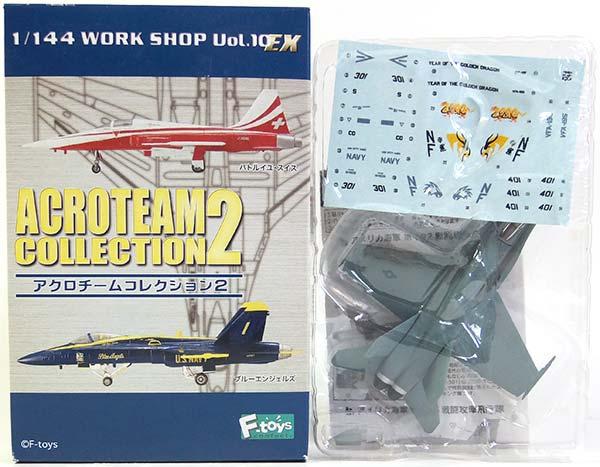 【1B】 エフトイズ 1/144 アクロチームコレクション Vol.2 F/A-18 ホーネット アメリカ海軍 第192戦闘攻撃飛行隊 戦闘機 半完成品 ミニチュア 単品