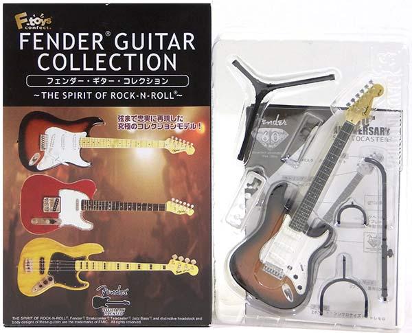 【1S】 エフトイズ 1/8 フェンダーギターコレクション THE SPIRIT OF ROCK-N-ROLL シークレット ストラトキャスター 60thアニバーサリー ミニチュア 楽器 ギター ジャズ 半完成品 単品