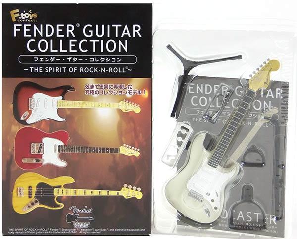 【1F】 エフトイズ 1/8 フェンダーギターコレクション THE SPIRIT OF ROCK-N-ROLL 70 ストラトキャスター (オリンピックホワイト) ミニチュア 楽器 ギター ジャズ 半完成品 単品