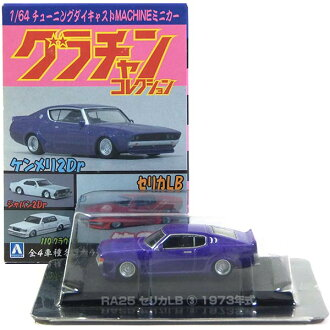 Aoshima 1 / 64 grachancollection 3 series RA25 Celica LB (blue) mini Boogie gang tribe car completed only