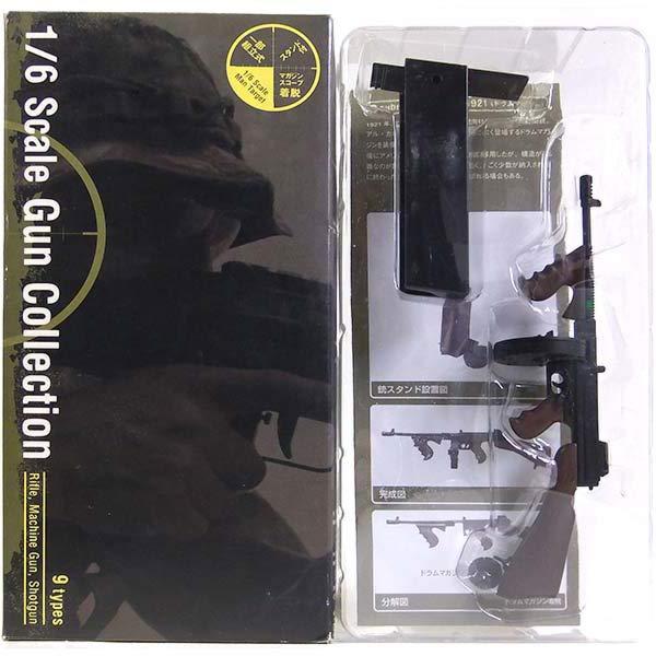 【8】 ザッカPAP 1/6 ガンコレクション サブマシンガン トンプソン M1921 (ドラムマガジン) ミニチュア 自衛隊 特殊部隊 機関銃 完成品 単品