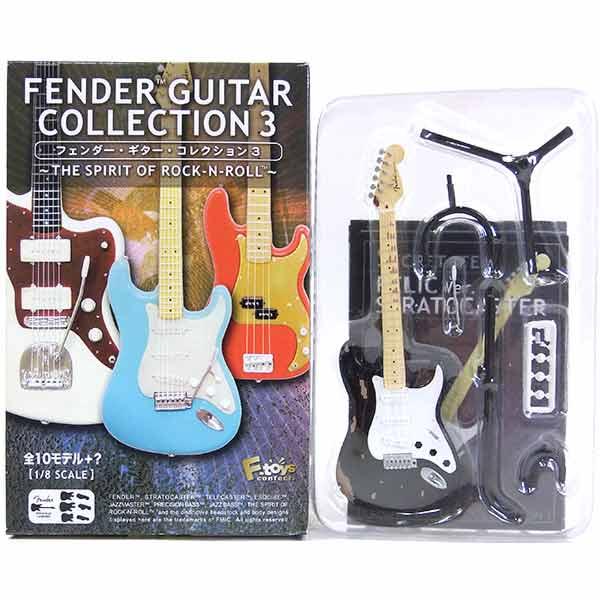【SP】 エフトイズ 1/8 フェンダーギターコレクション Vol.3 シークレット ストラトキャスター ブラック (レリックVer.) ミニチュア 楽器 ギター ジャズ 半完成品 単品