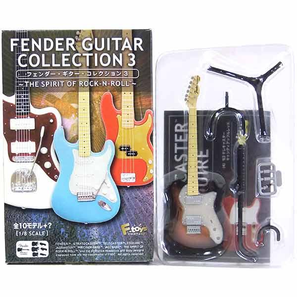 【5】 エフトイズ 1/8 フェンダーギターコレクション Vol.3 '72 テレキャスター シンライン 3カラーサンバースト ミニチュア 楽器 ギター ジャズ 半完成品 単品