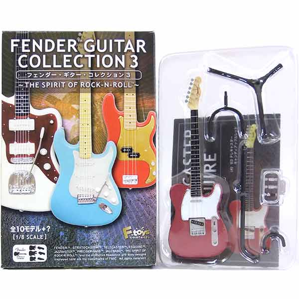 【4】 エフトイズ 1/8 フェンダーギターコレクション Vol.3 '63 テレキャスター キャンディアップルレッド ミニチュア 楽器 ギター ジャズ 半完成品 単品