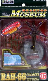 【1071】 童友社 1/144 デスクトップミュージアム RAH-66 コマンチ ヘリコプター ミニチュア 半完成品 食玩 BOXフィギュア 単品