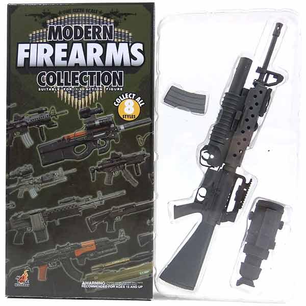 【6】 ホットトイズ 1/6 モダンファイアアームズ Vol.1 M16A2 with M203 & PVS-4 Night Vision Scope ミリタリー ミニチュア 模型 銃 機関銃 軍隊 自衛隊 特殊部隊 半完成品 単品