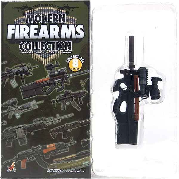 【1】 ホットトイズ 1/6 モダンファイアアームズ Vol.1 FN P90 ミリタリー ミニチュア 模型 銃 機関銃 軍隊 自衛隊 特殊部隊 半完成品 単品
