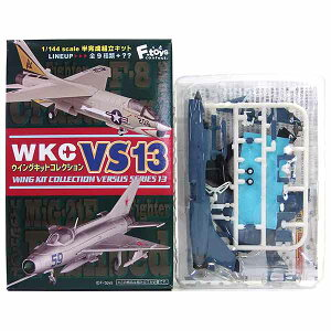 【1C】 エフトイズ 1/144 ウイングキットコレクション VS13 F-8E(FN) フランス海軍 クレマンソー空母航空団 第12F飛行隊 戦闘機 ミリタリー ミニチュア フィギュア 半完成品 食玩 単品