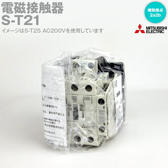 MISTUBISHI ELECTRIC S-T21 Magnetic contactor (Auxiliary contact arrangement:2a2b) NN