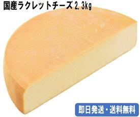 【ラクレットチーズ(ハーフカット2.3キロ 北海道産)】/ クール便・即日発送・送料無料/融けるチーズ/溶けるチーズ