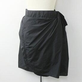 DEUXIEME CLASSE ドゥーズィエムクラス ナイロン ラップ スカート 36/ブラック ボトムス 膝丈【2400011162649】 nsg