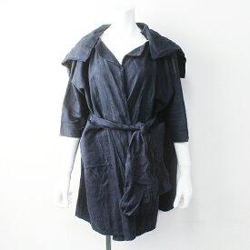 journal standard luxe DANIELA GREGIS ダニエラグレジス イタリア製 ベルト バッグ付き リネン コート/ネイビー【2400011378064】【中古】*高価買取中*