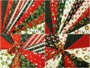 【特価布地 はぎれ生地】 クリスマス柄 カットクロス 10枚セットA 、B 2種類 CH15
