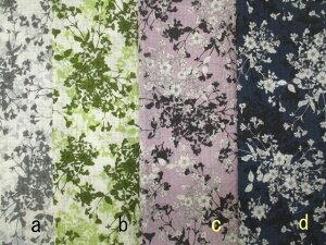 布地、生地/60ローン 広幅 リップル サッカー生地/大人の雰囲気、お花のブーケ柄 4色 211S1