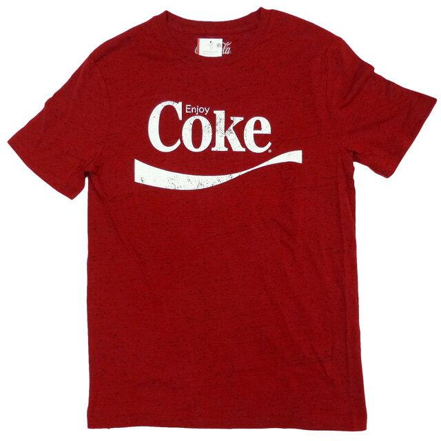 新品/海外正規ライセンス/Coca-Cola/Tシャツ/赤/ネップヤーン/コカ・コーラ【あす楽対応_関東_甲信越_北陸_東海_近畿_中国_四国】【ネコポス対応】