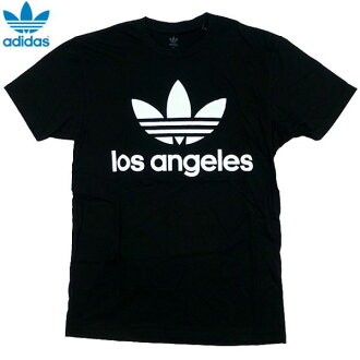 신품/adidas ORIGINALS/클로버/Los Angels/LA 제한/T 셔츠/블랙/아디다스/オリジナルス/