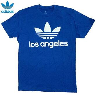 全新 /adidas 原件和三叶洛杉矶天使/拉有限公司/t 恤 / 蓝色 / 阿迪达斯 / 原件 /